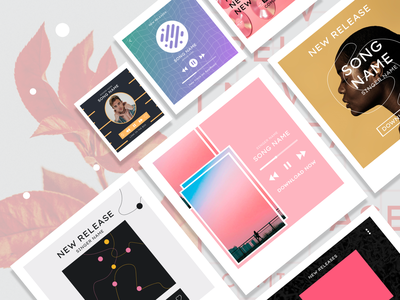 Instagram Music Templates by Artify svg free freebie design templates music