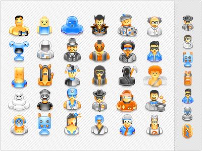 User avatar icons