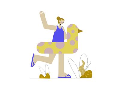 New Joyful People Illustrations Pack by Artify cute cartoon women woman download freebie vector free