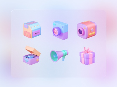 3D Icons Pack icons logo illustration design download icon vector