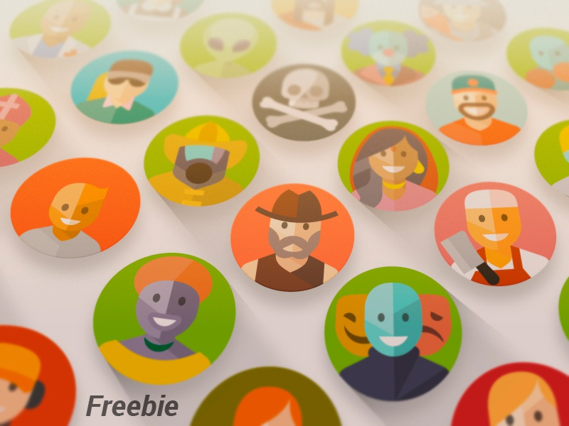1000 Flat And Material Design Avatars profile character faces emoji face people icon flat design material ai avatars