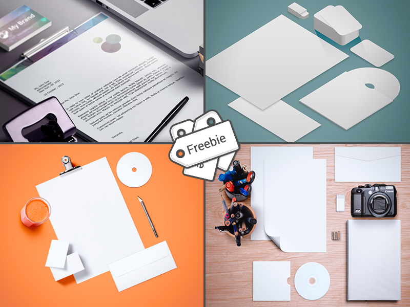 Free 50 Branding Stationery Mockup Templates Isometric Realistic Flat Photo Psd Template