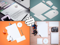 Free 50 Branding & Stationery Mockup Templates