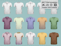 +50 Free T-Shirt Template Pack