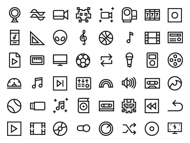 Windows 10 Multimedia Icons by IconShock on Dribbble