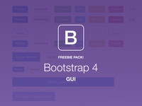 +120 FREE Elements Bootstrap 4 GUI Pack