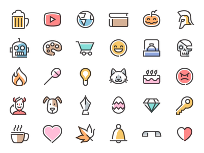 Simple Line Free Icons Pack color flat vector svg glyph icon design icons free line simple