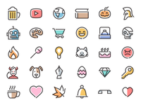 Simple Line Free Icons Pack