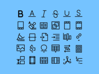 Free Windows 10 Text Icons Set