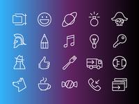 iOS Line Free Icons