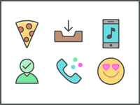 Color Line Communications icons