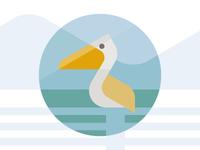 Flat Pelican icon
