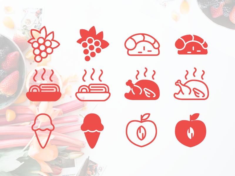 iOS line food Icons