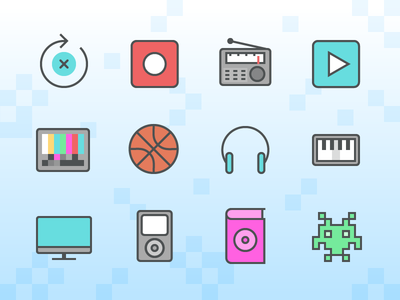 Color Line Multimedia icons