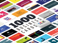 1000 Business Card templates pack