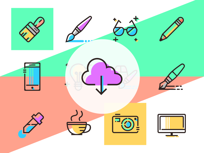 Free design agencies icons vector svg colorful design line ios icons icon glyph freebie free download