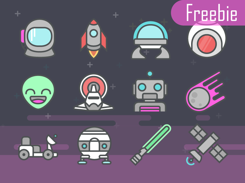 Space icons dribbble