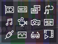 Windows 10 Video Production Vector Icons