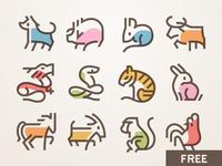 Xīn Nián Kuài Lè! 春节图标 - Free Chinese New Year icons