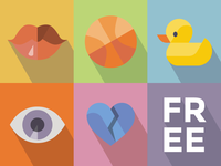 500 Free Flat Icons