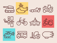 Line Transport Icons