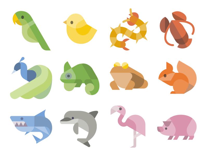 Flat Animal Icons icon 图标 动物 dinosaur animals vectors svg vector freebie free animals icons vector icons