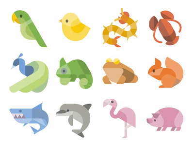 Flat Animal Icons icon 图标 动物 dinosaur animals vectors svg vector freebie free animals icons vector icons