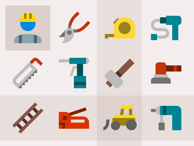 Material construction icons flat material icon industry build 图标 svg vector freebie free icons construction