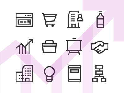Business Line Icons trading commerce vector svg windows freebie product business glyph line icon free