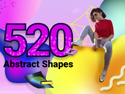 520 Free Vector Abstract Shapes freebie download shapes векторные фигуры 矢量形状 free 3d shapes editable png illustration abstract vector