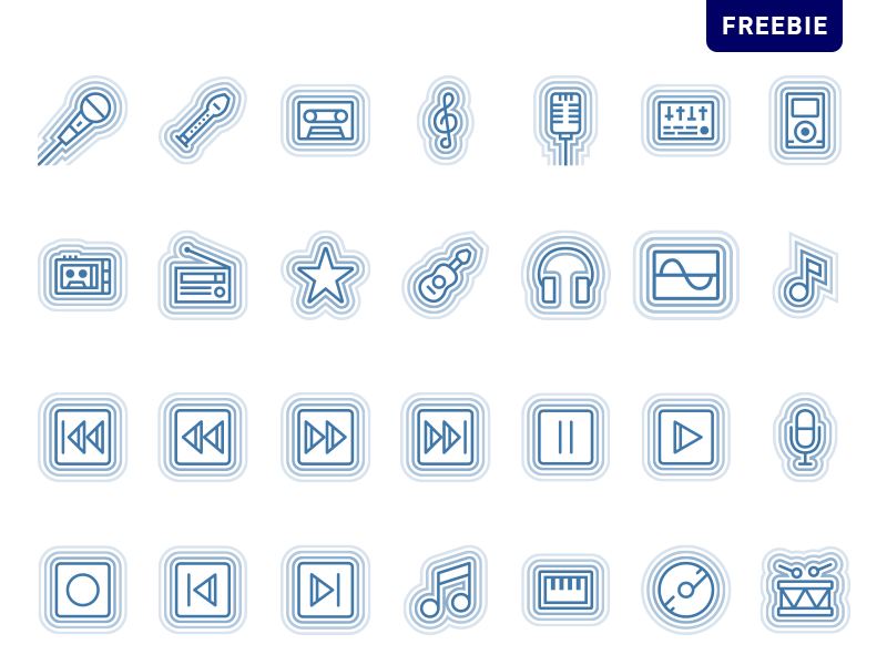Free Wave Icon Pack svg 音乐 wave style music freebie png download icon vector free