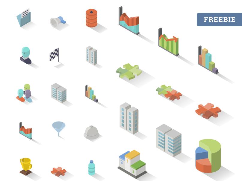 Accounting Isometric Free Icon Set x30 3d freebie png vector download isometric accounting icon free