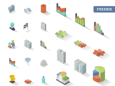 Accounting Isometric Free Icon Set x30 3d freebie png vector download isometric accounting icon free