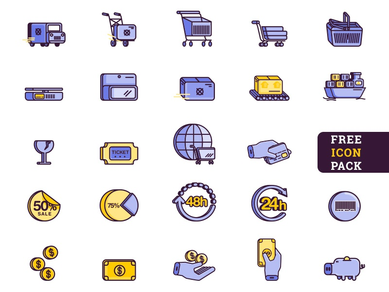 Dribble E Commerce Icons Free png payment method editable file 交货 download for free svg e-commerce shop icon vector freebie