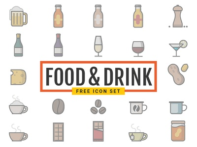 Dribbble Food Drink Icons Free 自由 freebie drink food download svg icon free vector editable