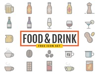 Dribbble Food Drink Icons Free