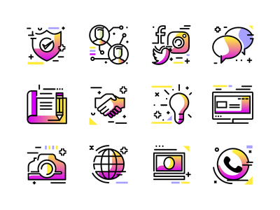 Colorful icon pack colorful editable 免费图标 line freebie download svg icon vector free