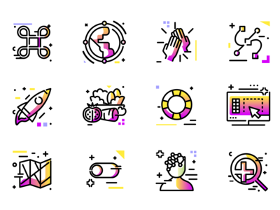 Colorful icon pack - Work in progress svg 免费图标 freebie editable line illustration vector download free icons colorful
