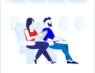 Trendy Travelling Scene Illustration - Work In Progress flat style 平面设计 плоский дизайн vector scenes flat illustration flat icon flat design flat graphic design