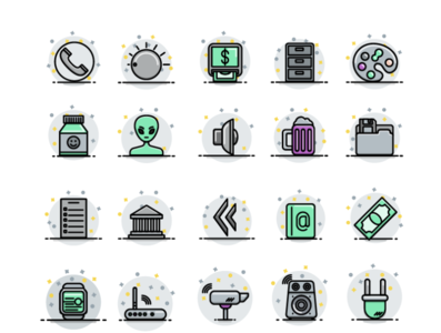 Color Fill Icon Set - WIP icon design iconography logo color palette icon icon pack icon set 圖標 图标 иконки fill icons glyph vector illustration free icons