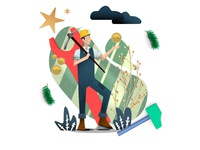 Mining in a Cryptoworld - Illustration (Work in Progress) 平面设计, плоский дизайн vector ui scenes flat illustration flat design character design characters graphic design design illustration