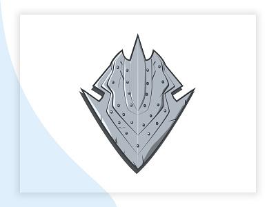 Shield skyrim battle orcish orc shield illustration medieval