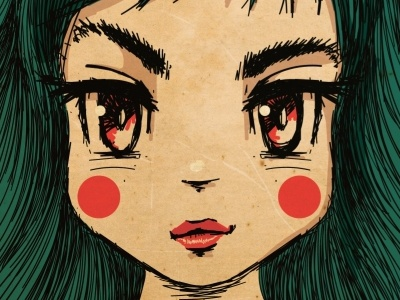Mad character illustration