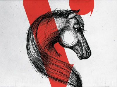 Soul of a horse vine drawing horse