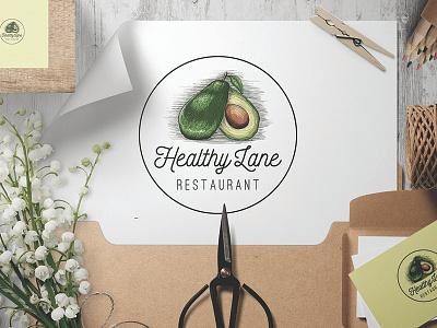 Tasteful Avocado  classic taste identity fruit avocado brand food health logo