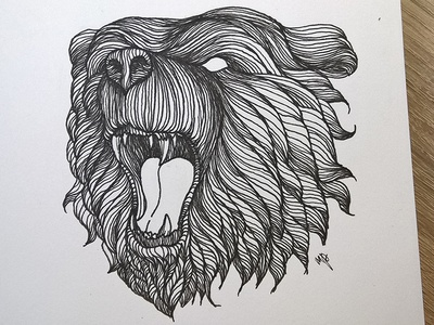 Bear illustration ink art graphic lineart illustration drawing detailed bear