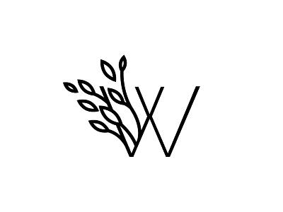 Wondery monogram wild minimal magic logo line-art organic nature