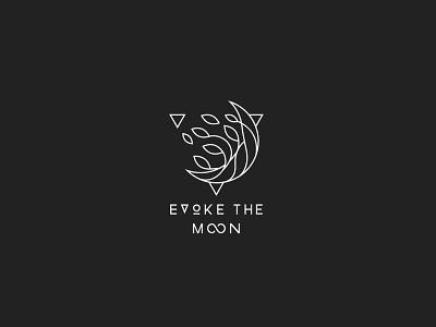 Evoke The Moon wild organic nature moon minimal magic logo line-art