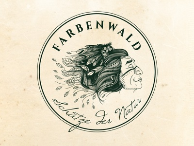Farbenwald shaman logo illustration identity graphic design brand