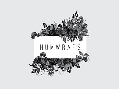 Humwraps wrapping-cloth handcrafted detailed vegetables fruit illustration drink food design logo